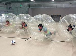 buborékfoci a pályán